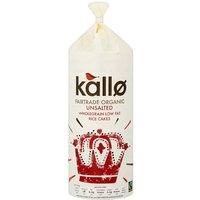 Kallo Organic Fairtrade Rice Cakes No Added Salt