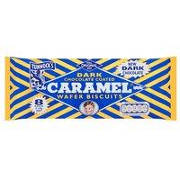Tunnocks Dark Chocolate Caramel Wafer Biscuits 8 Pack