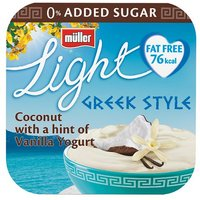 Muller Light Greek Style 4 Pack Coconut With A Hint Of Vanilla