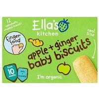 Ellas Kitchen 10 Months Organic Apple & Ginger Biscuits