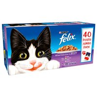Felix Pouches Mixed Selection In Jelly 40 Pack