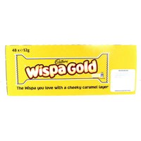 Cadbury Wispa Gold Chocolate Bar 48 Pack