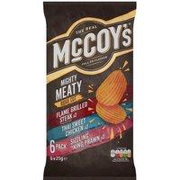 McCoys Meaty Crisps 6 Pack