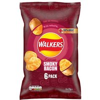 Walkers Smoky Bacon Crisps 6 Pack