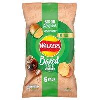 Walkers Baked Salt and Vinegar Crisps 6 Pack