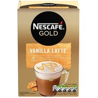 Nescafe Gold Vanilla Latte Drink 8 Sachets