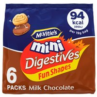 McVities Mini Chocolate Digestive Shapes 6 Pack