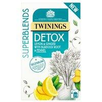 Twinings Superblend Detox Caffeine Free Envelope Tea 20