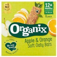Organix 12 Month Apple & Orange Bars 6 Pack