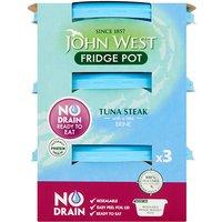 John West No Drain Tuna Steak in Brine 3 Pack