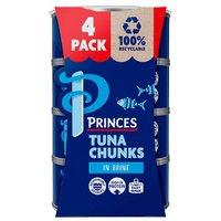 Princes Tuna Chunks In Brine 4 Pack