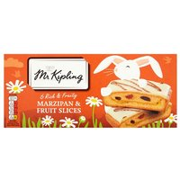 Mr Kipling Marzipan & Fruit Slices 6 Pack