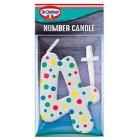 Dr. Oetker Spotty Number Candle No 4