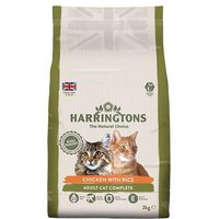Harringtons Chicken & Rice Dry Cat Food 2kg