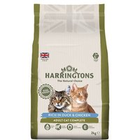 Harringtons Duck & Rice Dry Cat Food 2kg