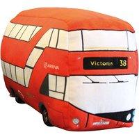 London Double Decker Bus Plush Cushion