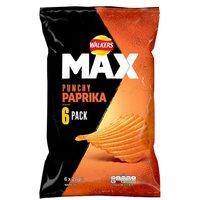Walkers Max Paprika 6 Pack