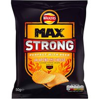 Walkers Max Strong Jalapeno & Cheese 24 x 50g