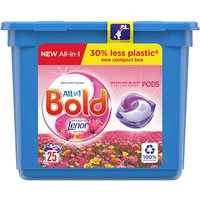 Bold 3in1 Washing Capsules Sparkling Bloom 25 Pack