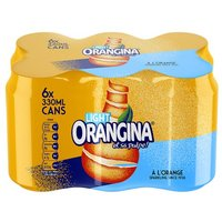 Orangina Light Can 6 Pack