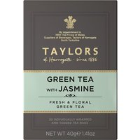 Taylors Green Tea with Jasmine 20 Tagged Teabags