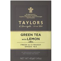 Taylors Green Tea with Lemon 20 Tagged Teabags