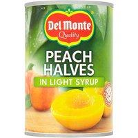 Del Monte Peach Halves In Light Syrup