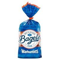 Warburtons 5 Plain Bagels