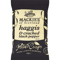 Mackies Haggis and Cracked Black Pepper Crisps 24 x 40g