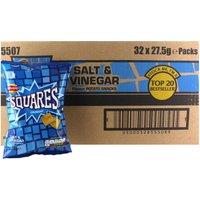 Walkers Squares Salt and Vinegar x 32