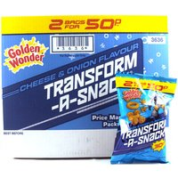 Golden Wonder Transform A Snack Cheese & Onion 30 x 30g