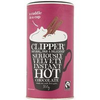 Clipper Fair Trade Seriously Velvety Instant Hot Chocolate