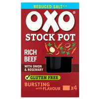 Oxo Stock Pots 4 Pack Reduced Salt Beef