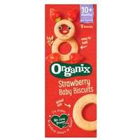 Organix 10 Month Baby Biscuits Strawberry