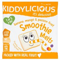 Kiddylicious 12 Month Smoothie Melts Banana Mango & Passion Fruit