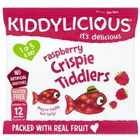 Kiddylicious 12 Month Crispie Tiddlers Raspberry