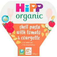 Hipp 12 Month Organic Shell Pasta with Juicy Tomatoes & Courgettes Tray