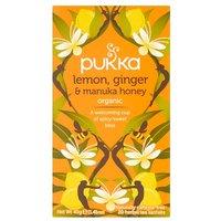 Pukka Organic Lemon Ginger & Manuka Honey Tea Bags 20 Pack