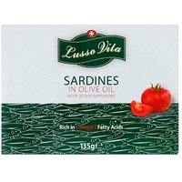 Lusso Vita Sardines In Olive Oil With Sundried Tomatoes