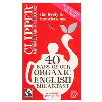 Clipper Fairtrade Organic English Breakfast Tea Bags 40 Pack