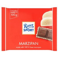 Ritter Sport Plain Chocolate With Marzipan Filling