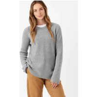 Cashmere Ribbed Jumper Silver