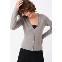 Cashmere Fitted V Neck Cardigan Fossil
