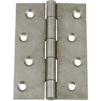 Steel Butt Hinge Chrome-Plated Finish - 100 mm x 71mm
