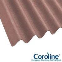 Coroline Corrugated Bitumen Brown Roof Sheets 2m x 950mm (855mm Cover)