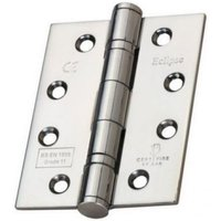 Frisco Polished Stainless Steel Ball Bearing Fire Door Hinge Grade 7 (Pair) - 73mm x 51mm x 2mm