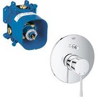 Grohe Essence Single Lever Bath Shower Mixer Trim + Rapido E Concealed Mixer