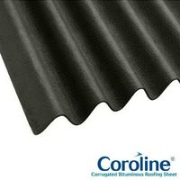Coroline Corrugated Bitumen Black Roof Sheets 2m x 950mm (855mm Cover)