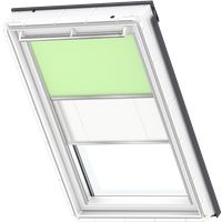 Velux Duo Blind Pale Green / White - DFD 4569S
