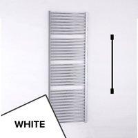 Essential Essential Straight Ladder Towel Rail, 1700mm High x 600mm Wide, White